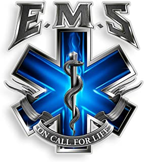 EMS/EMT Decals, Show Your Pride with Our On Call for Life EMS Patriotic Decals, Perfect for Your Kitchen, Car, Wall or Bik...