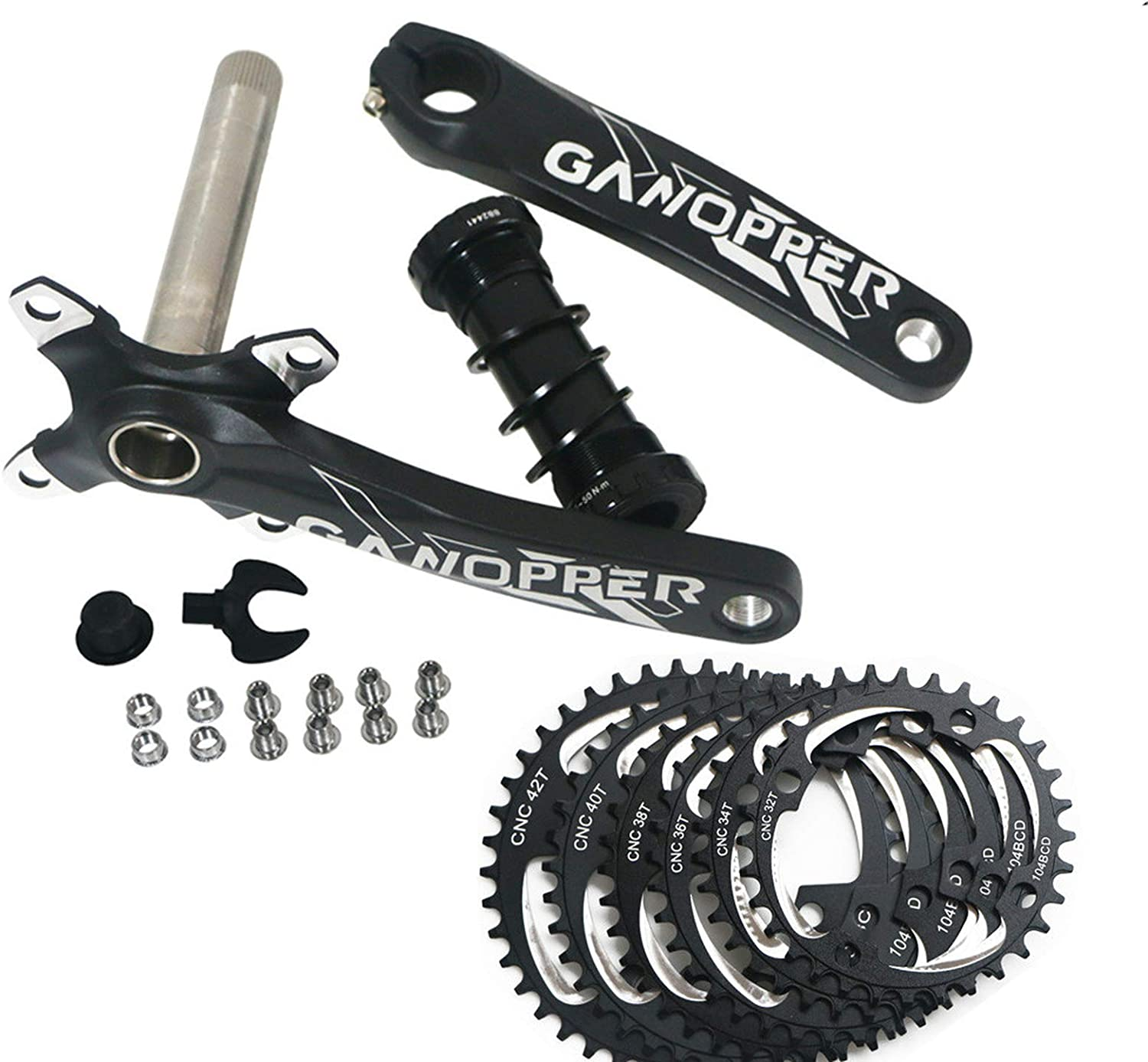 Bike Crankset Fat Bike Crankset Crankset Chainwheel 32T 104mm BCD Single Speed Chainset