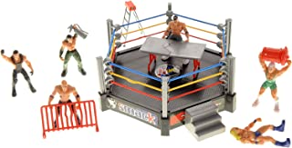 PowerTRC Ultimate Mini Wrestling Playset | Comes with Realistic Wrestling Action Figures, Many Accessories, and Wrestling Ring and Cage