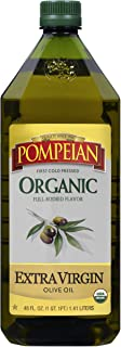 Pompeian USDA Organic Extra Virgin Olive Oil, First Cold Pressed, Full-Bodied Flavor, Perfect for Vinaigrettes and Marinad...