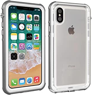 b94426edbc6 Funda impermeable iPhone X, MUTOUREN Funda impermeable, IP68 Certificado  Anti-shock Anti-