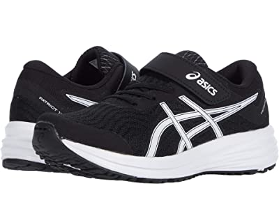 ASICS Kids Patriot 12 (Toddler/Little Kid) (Black/White) Boys Shoes