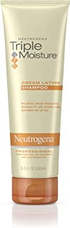 Neutrogena Triple Moisture Cream Lather Shampoo for Extra Dry Hair, Damaged & Over-Processed Hair, Hydrating with Olive, Meadowfoam & Sweet Almond, 8.5 fl. oz