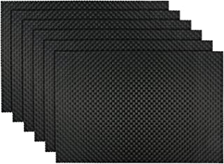 black and grey placemats