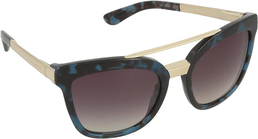 Dolce & gabbana, occhiali unisex, montatura in acetato e colore lenti  havana in base grigio 4269