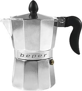 BEPER Cafetera Tradicional Individual CA.010, 0 W, 0.1 litros, 0.6 Decibeles, Plata