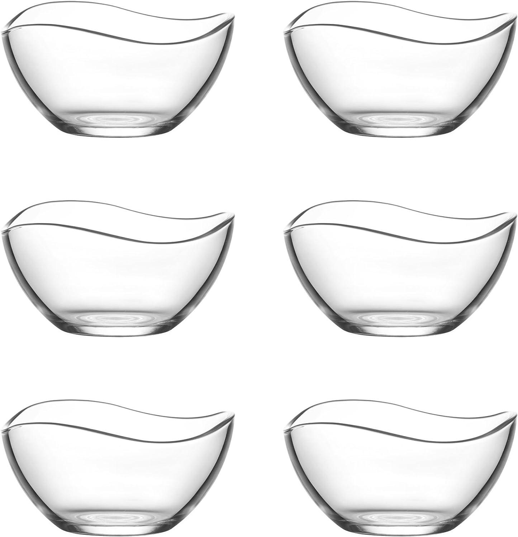 Lav 6copas de cristal Vira rígida (Vidrio–Cuenco de postre vorspeise rígida 215ml)