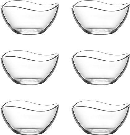 LAV 6tlg Glasschalen Vira Schalen Glasschale Dessertschale Vorspeise Glas Gläser 310ml preisvergleich bei geschirr-verleih.eu