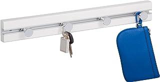 HoneyCanDo White Wall Hanger W/ 4 Hooks