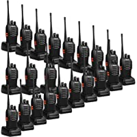 20-Pack Retevis H-777 UHF Rechargeable Long Range 16Ch Portable Two Way Radios with USB Charger Base and Adapter