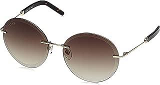 Titan Gradient Round Women's Sunglasses - (GM314YL1FN 58 Brown Color Lens)