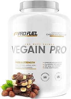 VEGAIN PRO   Weight & Mass Gainer   100% Vegan   Komplexe Kohlenhydrate  veganes Protein für den Muskelaufbau   Sehr lecker   Ohne Maltodextrin   Made in Germany   2,2 kg - CHOCOLATE HAZELNUT