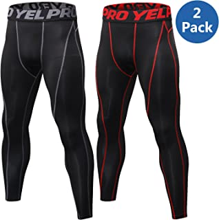 VEEWOO Men's Compression Pants Baselayer Cool Dry Sports Tights Leggings for Running,Workout,Training,Gym,Cycling