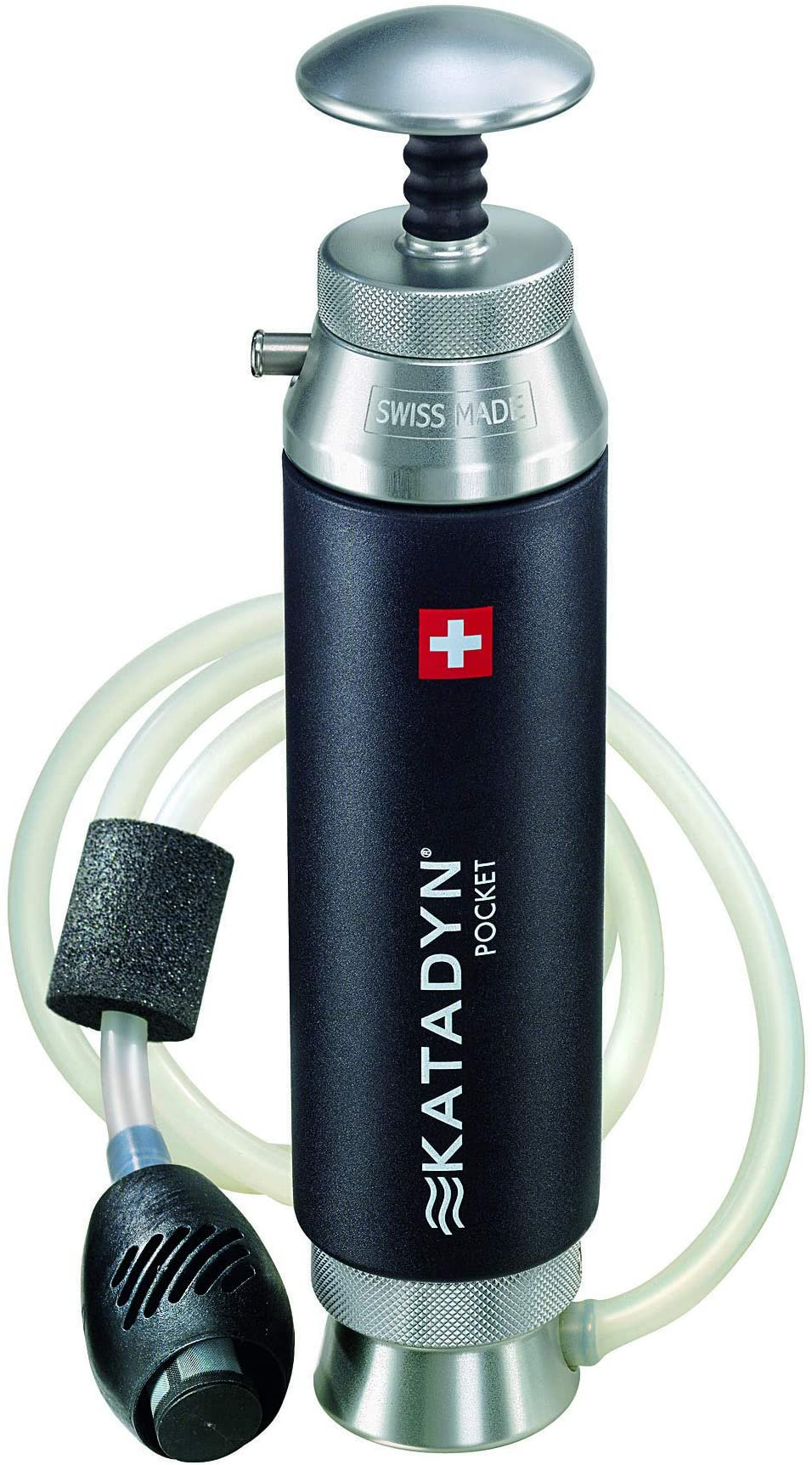 Katadyn Pocket Water Filter, Long Lasting for Personal or Small Group Camping, Backpacking or Emergency Preparedness
