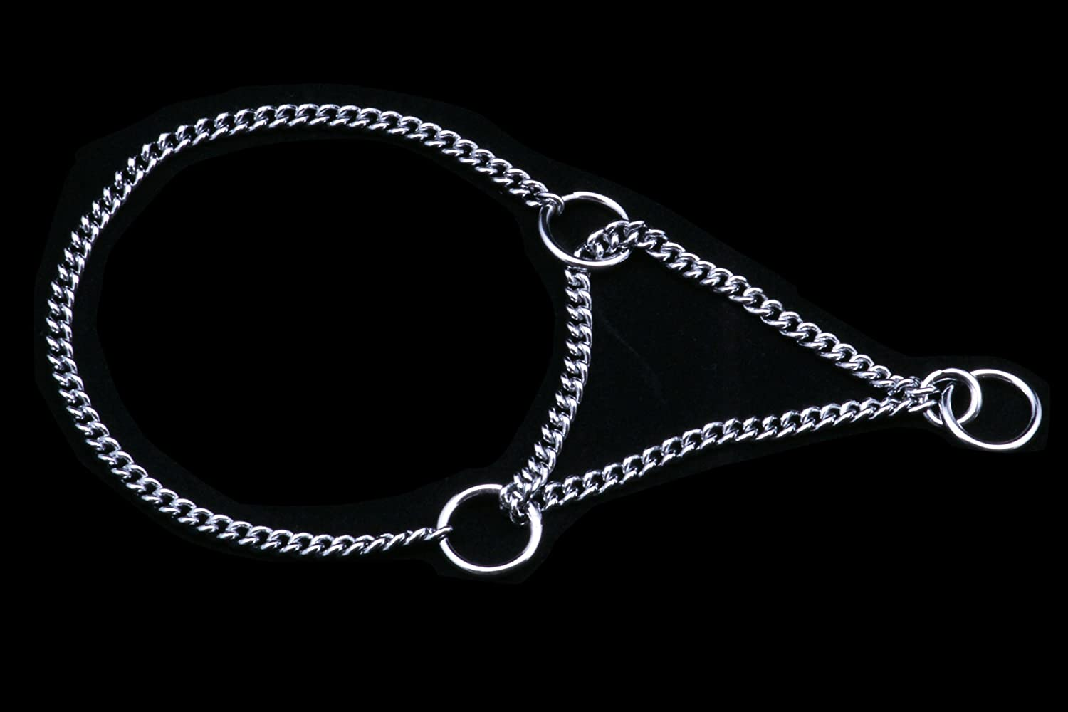 Alvalley Martingale Chain Show Collar for Dogs Thickness 1.2 mm x 10 in