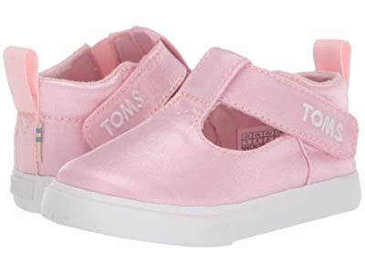 TOMS Kids Joon (Infant/Toddler) (Pink Shiny Glitz) Girl