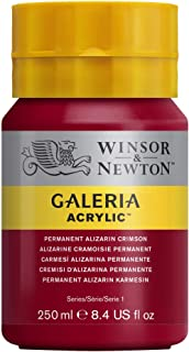 Winsor & Newton 250ml Bottle Galeria Acrylic Colour with Nozzle Cap - Permanent Alizarin Crimson