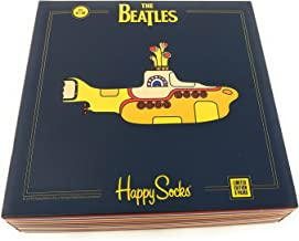 Happy Socks Unisex The Beatles Limited Edition multi-color Submarine EP Collector's Box (3 Pair)