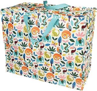 LS-LebenStil XXL Jumbo Bag Blumen Wilde Tiere Recycled Allzwecktasche Einkaufstasche