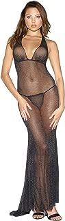 Women's Lurex Halter Back Long Gown