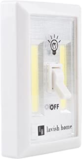 Cordless Light Switch, Battery Operated COB LED Night Light (For Closet, Under Cabinet, Shelf, Wall, Kids Room, Basement) By Lavish Home - 4 PACK