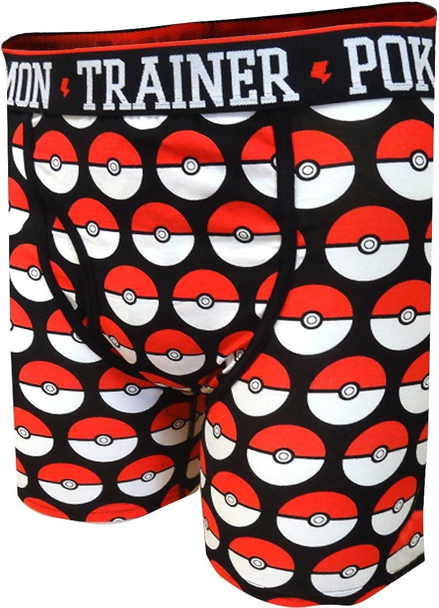 Pokemon Mens Trainer Pokeball Videogame Underwear Boxer Briefs
