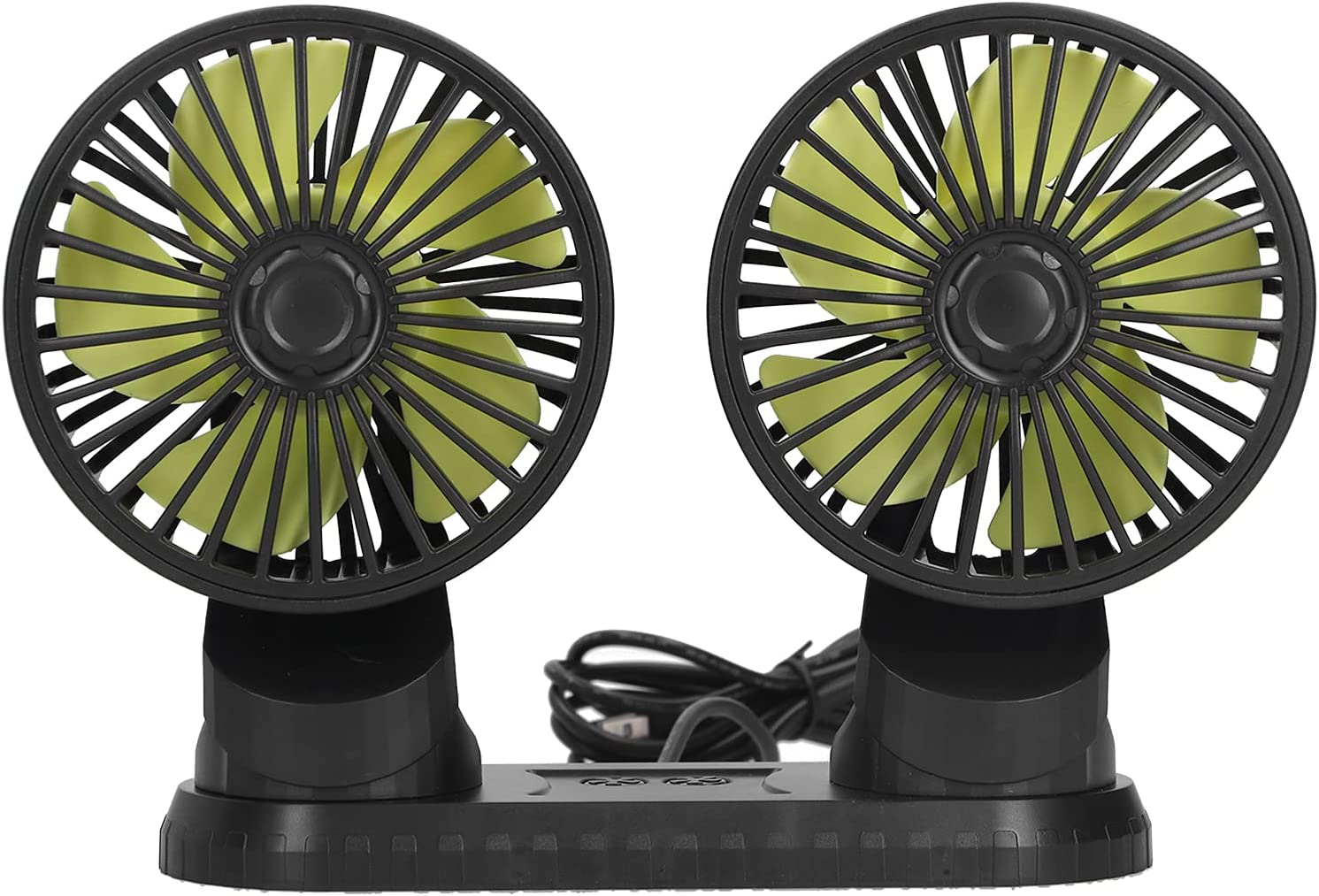 Dual Head Car Fan 12V Dual‑head ABS Blades 3 PP 5 Free shipping Import on posting reviews Vehicle