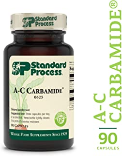Standard Process - A-C Carbamide - 1500 IU Vitamin A, 18mg Vitamin C, Gluten Free Supplement, Supports Healthy Urinary System, Fluid Transfer and Levels - 90 Capsules
