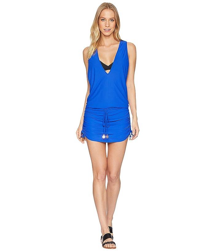 Luli Fama Cosita Buena T-Back Mini Dress Cover-Up (Electric Blue) Women