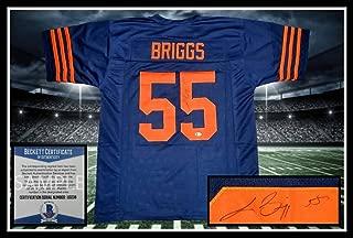 Lance Briggs Autographed Jersey - throwback Beckett UNFRAMED - JSA Certified - Autographed NFL Jerseys