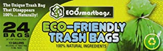 Eco-smartbags Tall Kitchen Trash Bags, 13-Gallon, 24-Count Boxes (Pack of 6)