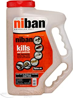 Niban Granular Pest Control Insecticide Bait 4 LB Shaker ~~ Kill Ants, Cockroaches, Crickets (Camel, house, field, and mole) Earwigs, Silverfish, Snails, Slugs Etc..