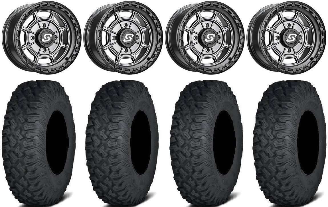 Bundle - 9 Items: Genuine Free Shipping Sedona Rift 15x6 Tires Coyote Grey Wheels Omaha Mall 35