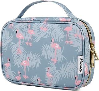 Narwey Travel Jewelry Organizer Case Bag Accesories for Women Jewelry Storage (Flamingo)