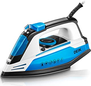 Deik Professional Grade Steam Iron for Clothes, 15s Rapid Even Heat, Scratch Resistant Nonstick Nanoceramic Soleplate, Var...
