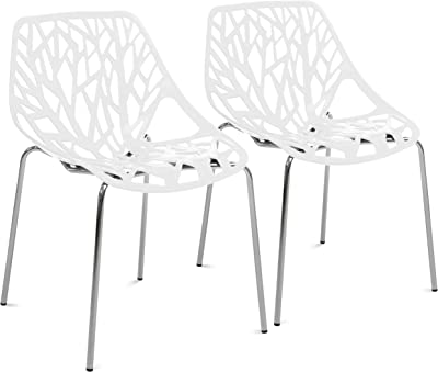 Amazon.com: leisuremod Cornelia silla de comedor moderna ...