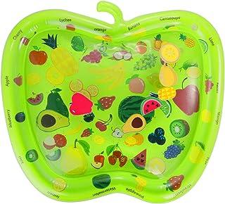 Homeriy Colchoneta de Agua Inflable para Bebés Niños Pequeños Colchoneta de Juego para El Tiempo Boca Abajo Centro de Juego de Actividades para Bebés con 6 Juguetes Flotantes