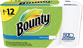Bounty Select-A-Size Paper Towels, White, Giant Roll. 95 SHEETS 8 PACK
