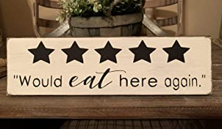 Tiukiu Would Eat Here Again Rustic Wood Sign Wooden Plaque Wall Decor