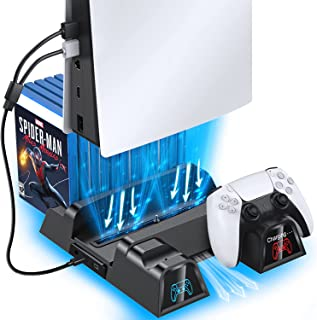 OIVO PS5 Cooling Stand with Charging Station and Suction Cooling Fan,Dual Controller Charger Station,Must Have Accessories...