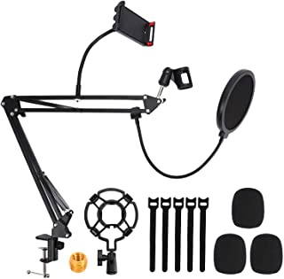 Microphone Arm Stand, Extendable Mic Suspension Boom,...