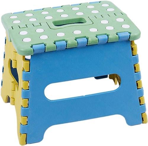 YJLGRYF Tabouret échelle Marchepied rabattable, plastique, jusqu'à 150 kg 22x17x18 cm pliable Escabeaux