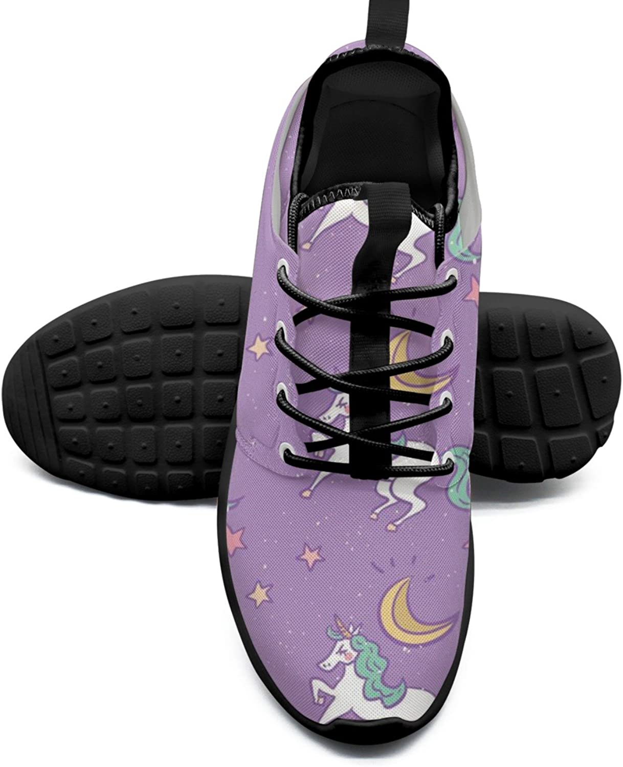 Cute Unicorn Moon And Stars Printing Women's Sneakers shoes Hip Hop Mesh Lightweight Basketball Sneakers