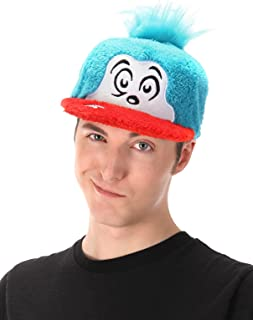 Dr. Seuss Thing 2 Cat in The Hat Costume Fuzzy Cap Blue
