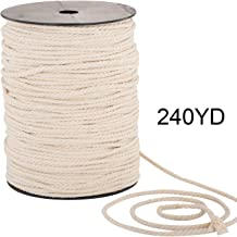 Macrame Cord 4mm x 240yd   100% Natual Cotton Macrame Rope   3 Strand Twisted Cotton Cord for Handmade Plant Hanger Wall Hanging Craft Making