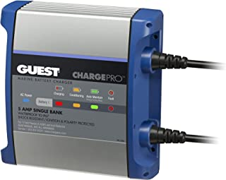 Guest 2708A ChargePro On-Board Battery Charger 5A / 12V, 1 Bank, 120V Input (Renewed)
