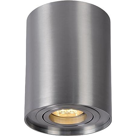 Lucide TUBE - Spot Plafond - Ø 9,6 cm - GU10 - Chrome Dépoli