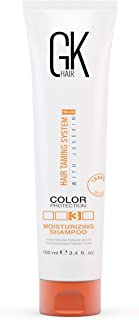 Global Keratin GKhair Moisturizing Shampoo Color Protection (100ml/ 3.4 fl. oz)| Organic Oil Extracts - Sulfate, Paraben Free Shampoo for Women, Men - All Hair Types