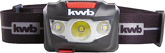 kwb Accu koplamp met LED-technologie, 1800 mAh Li-Ion batterij, ANSI FL 1 - standaard, lamp met 7 lichtmodi, waterbescherming