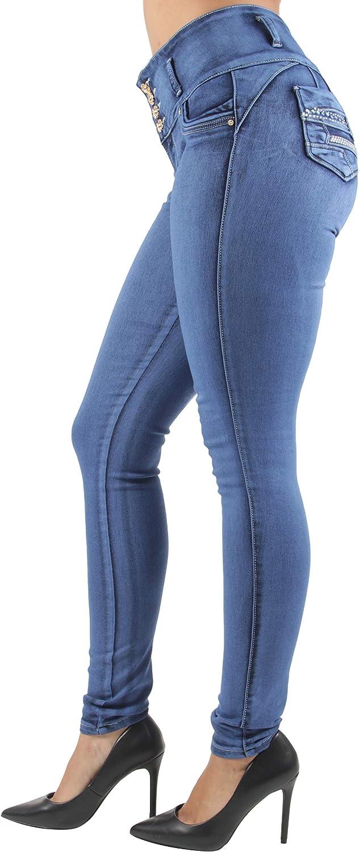 Women's Plus Juniors Size Colombian Design, Butt Lift, Push Up, Skinny Jeans